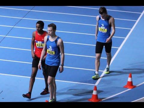 800 m finale NK Indoor Atletiek Sven en Brian Versluis 2015