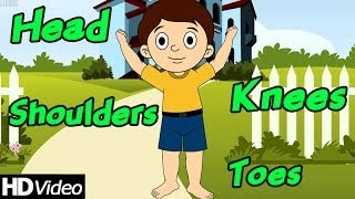 Head Shoulders Knees and Toes   Parts of The Body Song   Nursery Rhymes 2014
