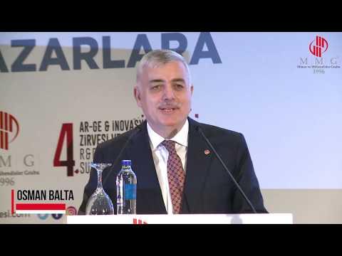 MMG 4. Arge & İnovasyon Sergisi Ve Zirvesi Açılış Konuşması: MMG Genel Başkanı Osman Balta