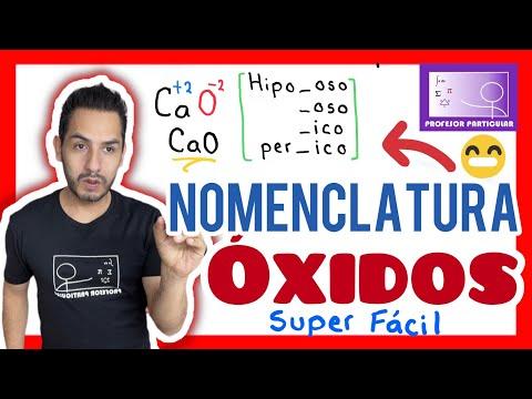 Nomenclatura química  Óxidos método fácil y rápido