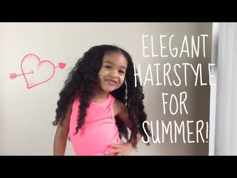 quick-and-easy-hairstyle-for-mixed-curly-hair-|-elegant-side-bun