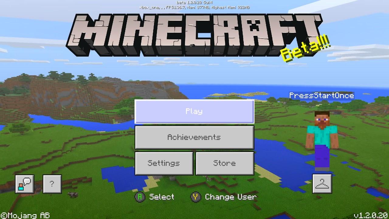 Minecraft Beta 2017 Title Screen Xbox One