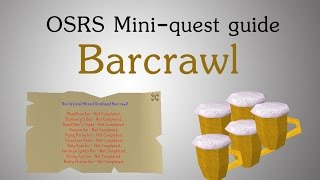 [OSRS] The Alfred Grimhand barcrawl mini quest guide