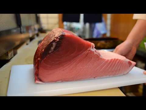 寿司職人によるマグロの仕込みから握りまで〜How To Make Tuna Sushi〜