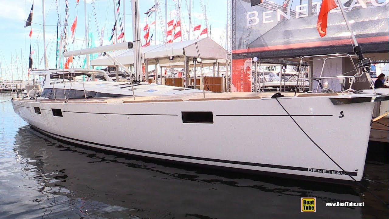 2018 Beneteau Sense 57 Sailing Yacht - Deck and Interior Walkaround - 2017  Annapolis Sail Boat Show