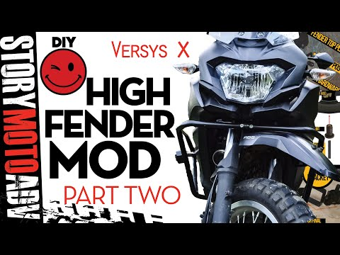 ADVENTURE BIKE MODS Tutorial: Motorcycle High Fender  DIY Versys x 300 Mods: Part 2