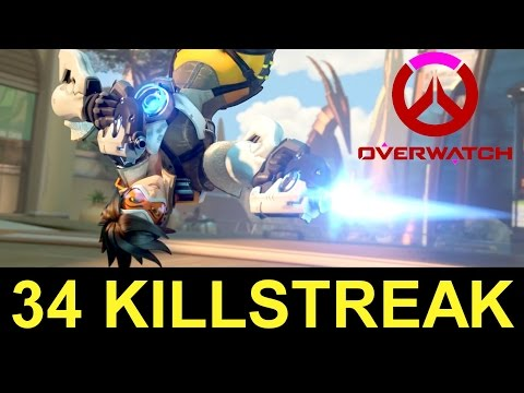 Tracer 34 KILLSTREAK Tracer Butt Pose  Overwatch on Consoles Overwatch Tracer Gameplay