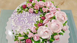 Цветы из БЗК Торт для девушки