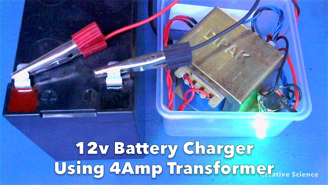 How To Make 12v Battery Charger Using 4amp Transformer Youtube Batterycharger Powersupplycircuit Circuit Diagram