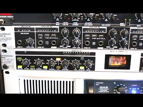 How to setup mic preamp in home recording studio or live sound reinforcement