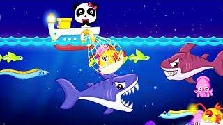 Happy Fishing For Baby Learn Marine Fish & Explore The Sea - Kids Babybus Gameplay