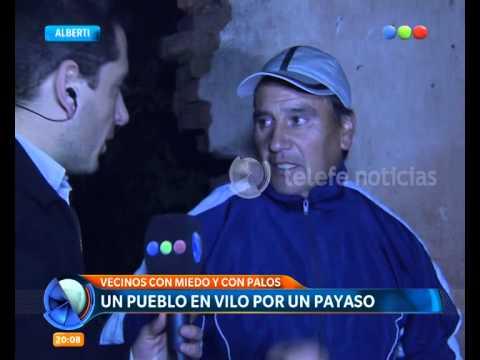 """Buscan al """"payaso asustador"""" en Alberti - Telefe Noticias"""