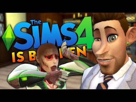 My Game Is SO BROKEN - The Sims 4 Funny Highlights #131 |