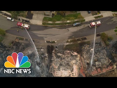 Drone Video Reveals Glass Fire Devastation In Northern California | NBC News NOW