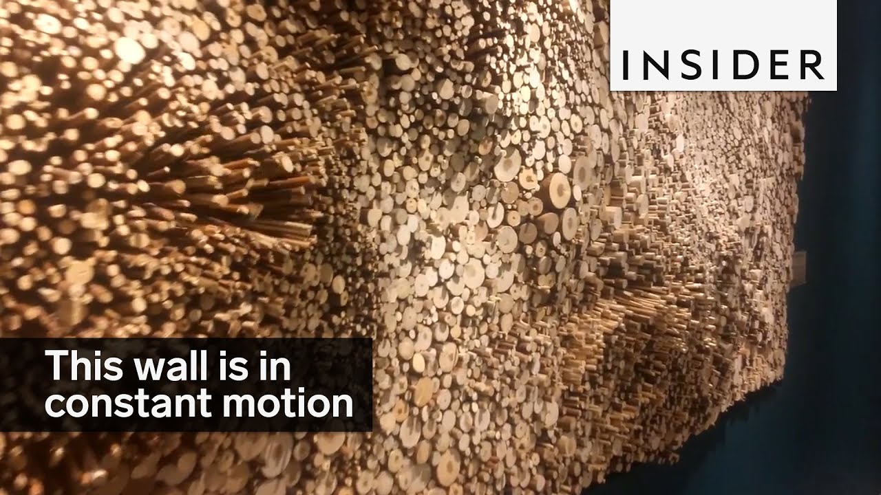 Moving wall sculpture - YouTube