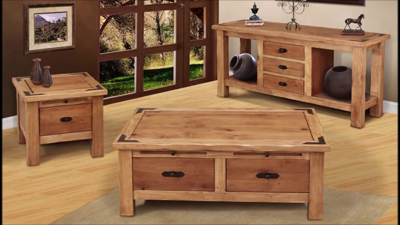 Rustic Living room tables - YouTube