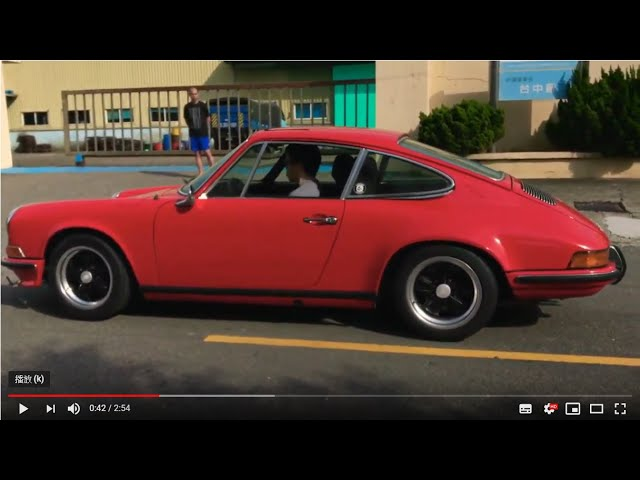 1971 Porsche 911T Vintage Speed Exhaust Sound