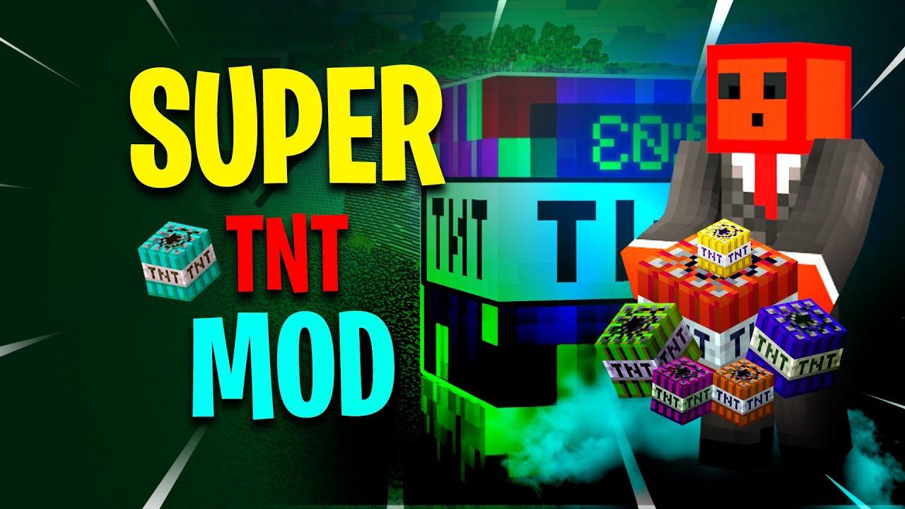 Minecraft: Super Massive Nuclear TNT Testing | Super TNT Mod | RANDOMIZED