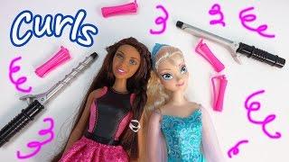 Barbie Endless Curls Doll Hair Style Disney Frozen Queen Elsa Fun Playing Playset Cookieswirlc