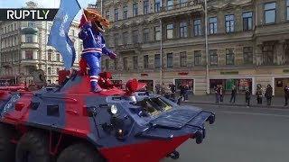 Кубок Гагарина в Петербурге  хоккейный клуб СКА отметил победу в КХЛ масштабным парадом
