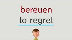 Wie heißt bereuen auf englisch