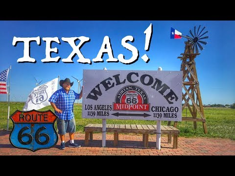 Texas! The Official Half-Way Point of Route 66!