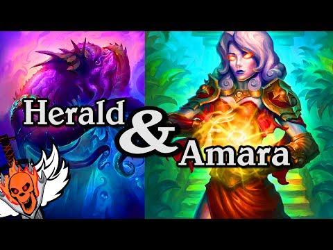 Quest Amara and Herald Volazj 🍀🎲 ~ Journey to Un'Goro ~ Hearthstone Heroes of Warcraft