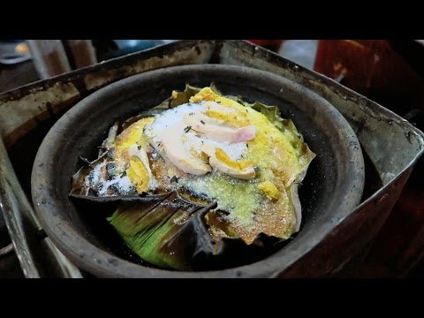 Philippines Street Food | BIBINGKA (HOT and FRESH from a Homemade Oven!)