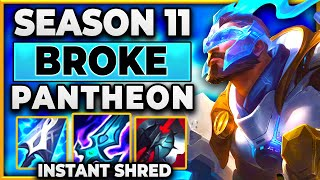 THIS BUILD BREAKS PANTHEON (INSTANT SHRED) - BunnyFuFuu   League of Legends