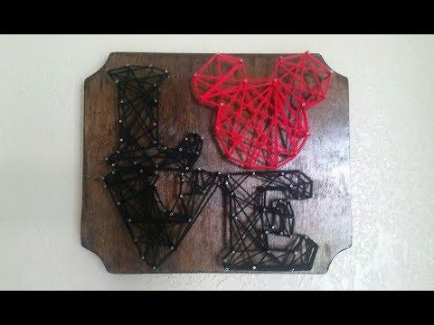 Valentines Day/Disney Themed String Art