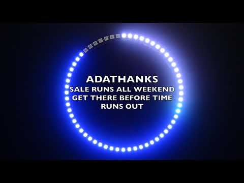 The ADATHANKS sale runs all weekend!