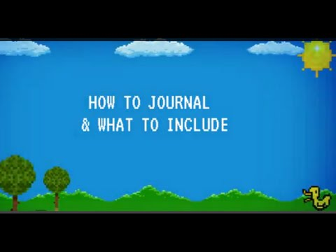 How to Journal & What to Include .·★