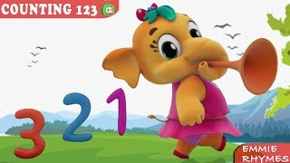 Learn To Count Number Dance Song |+More Nursery Rhymes & Kids Songs - Emmie The Elephant | BabyToonz