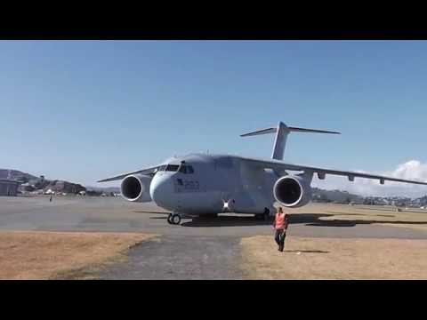 Wellington Airport - EXTRA VIDEO! Japan Self Defense Force J