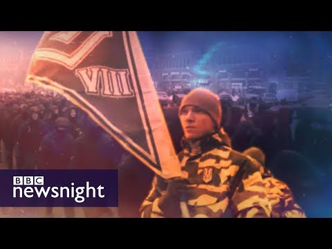 Ukraine: On patrol with the far-right National Militia - BBC Newsnight