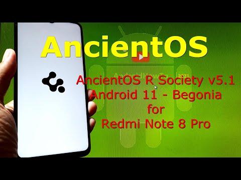 AncientOS R Society v5.1 for Redmi Note 8 Pro Begonia - Custom ROM