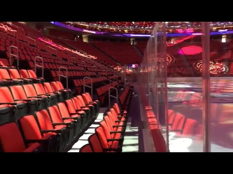 Little Caesars Arena front and last row views
