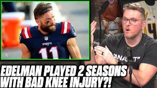 Pat McAfee Reacts To Julian Edelman Playing 2 Seasons On Knee Injury