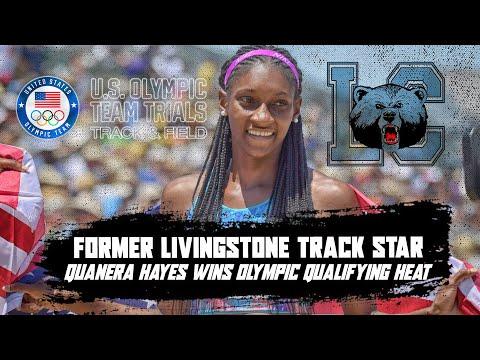 Former Livingstone track star Quanera Hayes wins 400m olympic qualifying heat