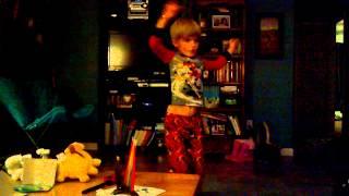 Myles ninja stuff 6 yrs old 12-2-13