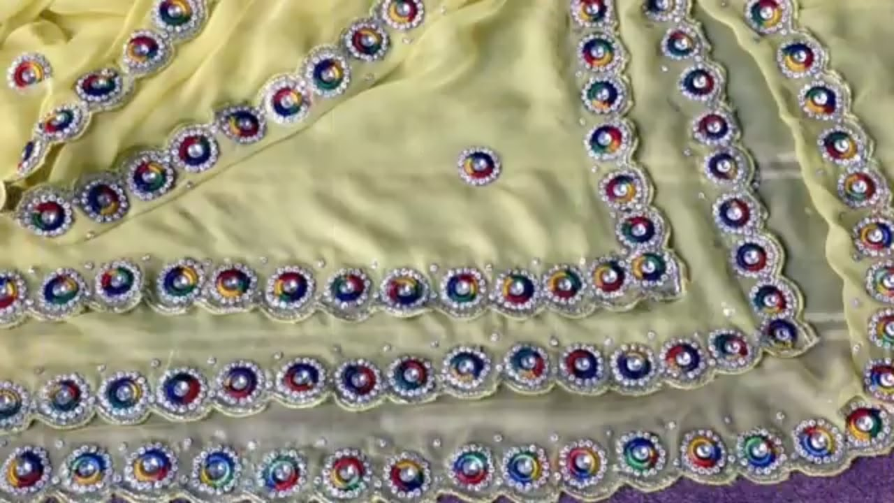 a80f2cacf Easy Kundan Work and Stone Work Apply By Self On Saree - YouTube