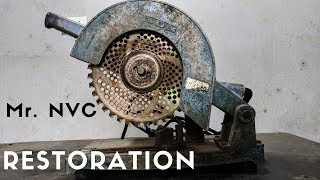 Very OLD Steel and Metal Saw Power Tool RESTORATION