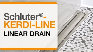 How to Install Schluter®-KERDI-LINE linear drain