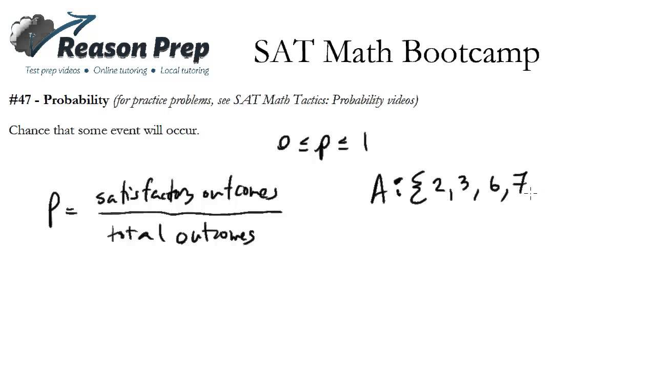 SAT Questions - Permutations & Combinations, Probability (with
