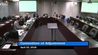 C of A TEY District - Public Hearing - April 25, 2018 Morning Session