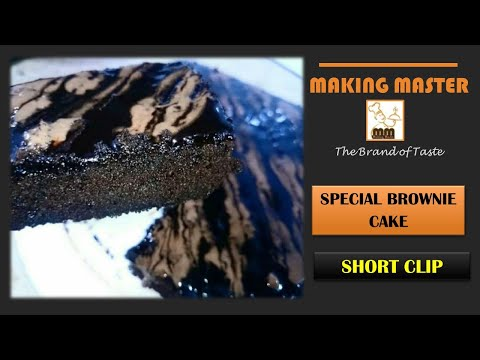 Making Master Short Clip-04 | Special Brownie Cake Making Clip | Homemade Special Brownie Cake.