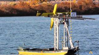 Flexrotor Pandora performs two autonomous flight cycles with an unmanned skiff