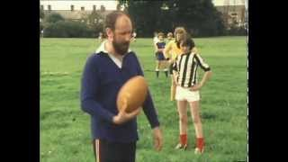 Classic Grange Hill Mr Baxter is rugby tackled by Alan