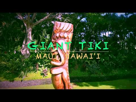 Amazing Giant Hand Carved Tiki by Folau Tupou, Maui, Hawaii