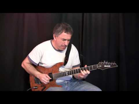 Jazz rock funk fusion C minor blues jam, Jake Reichbart - Lead Guitar Solo
